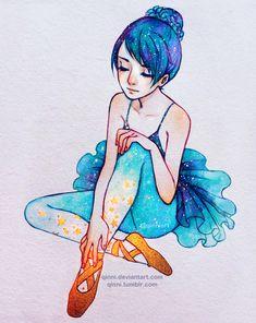 Magic Ballet Shoes by Qinni.deviantart.com on @DeviantArt