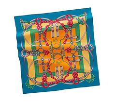 Another Hermes silk scarf. Silk Scarves, Hermes Scarves, Printed Scarves, Scarf Rings, Scarf Design, Diy Design, Women's Earrings, Fancy, My Style