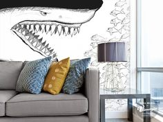 Vimagio Wallmural Shark
