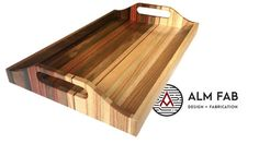 Sunset Tray - Scrap Wood Project -build video AlmFab