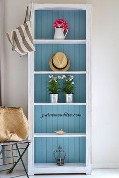 Beach house shelves-love this!                                                                                                                                                     More