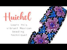 Huichol Beading - How to make a Floral Flat Huichol Ribbon Bracelet ~ Seed Bead Video Tutorials Beaded Bracelets Tutorial, Necklace Tutorial, Beading Techniques, Beading Tutorials, Video Tutorials, Beaded Jewelry Patterns, Beading Patterns, Beaded Jewellery, Loom Patterns