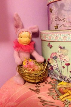 Lilac The Waldorf Bunny Girl Doll by ACuriousTwirl on Etsy