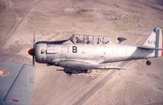 T6 de l' Escadrille 7/72 de Tébessa.  Il survole l' est Algérien, près de le frontière Tunisienne. (Collection Paul Béduchaud). Algerian war, pin by Paolo Marzioli