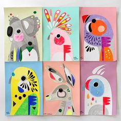 I put these 6 original collages in my online shop today. It's about time I…