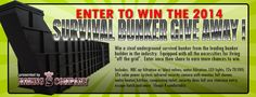 Click here to enter the Survival Bunker Give Away from www.risingsbunkers.com! Share your link and get additional entries to win. #bunker #survival shelter #bomb shelter