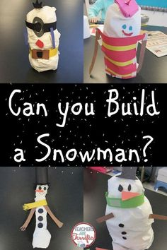 The snowman is part of a winter snow series of STEM challenges! Students use only two materials and some creative decorating to design and build a snowman! Includes teacher directions, alb sheets, and more!