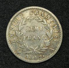 1/2 Franco in argento (croce)