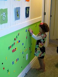 Magnetic Wall I would love to have one of these!