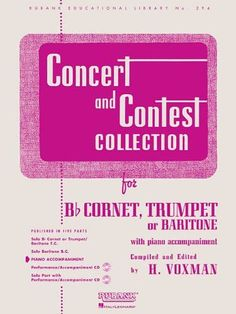 Advanced lip flexibilities for trumpet complete volumes 1 3 dr concert and contest collection piano accompaniment bb cornet trumpet or baritone rubank fandeluxe Images