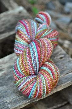 Spinning: Handspun Yarn by marybuttons - so pretty!