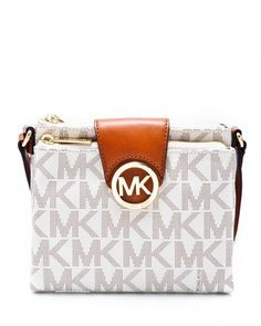 MICHAEL By Michael Kors MK Signature Large NS Gansevoort Tote Handbag* Gold