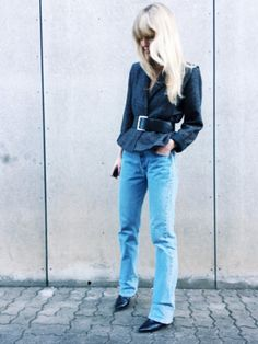 Best fashion Instagrams of the week: Jeanette Friis Madsen in a tweed jacket belt and jeans