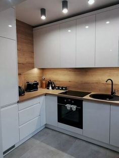 50 Creative Modern Kitchen Cabinet Design Ideas For Large Space Storage – Small Kitchen Ideas Storages Kitchen Room Design, Kitchen Cabinet Design, Modern Kitchen Design, Home Decor Kitchen, Interior Design Kitchen, New Kitchen, Home Kitchens, Kitchen Small, Small Modern Kitchens