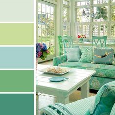 Un design intérieur reposant inspiré par les teintes vertes