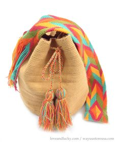 "Authentic Wayuu Bags Wayuu Mochila Size 11"" x 9"".wybag-43 on Etsy, $89.00"