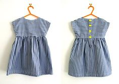 Simple tunic or dress pattern : Free pattern sizes & years from Made By Toya - striped tunic dress Visit the post for more. Tunic Dress Patterns, Toddler Dress Patterns, Tunic Pattern, Clothing Patterns, Free Pattern, Pattern Sewing, Skirt Patterns, Pattern Drafting, Little Girl Dress Patterns