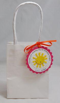 Sun Favor Tags Thank you's Girl Set of 12 by CardsandMoorebyTerri, $21.00