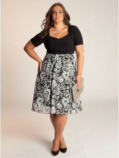 Helena Plus Size Dress - Work Dresses by IGIGIModel Info: Wearing Size 14/16, Height - 6', Shape - Hourglass