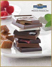 Ghirardelli Chocolate Company - Ghirardelli chocolate squares, milk & dark chocolate gifts