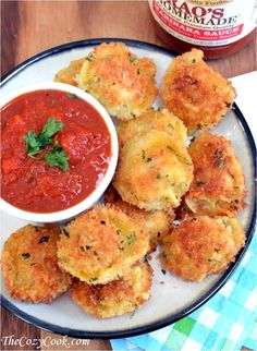 Parmesan Crusted Tortellini Bites, 25 Best Appetizers to Serve #ablissfulnest #appetizerrecipeideas #appetizerrecipes #appetizers