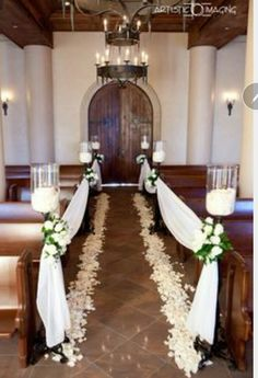 21 Stunning Church Wedding Aisle Decoration Ideas to Steal | Wedding ...