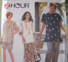 Simplicity Sewing Pattern 7221- WOMENS PLUS Size 26W-32W - Blouse Skirt Pants