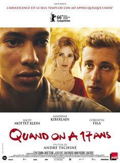 Quand on a 17 ans est un film dramatique français coécrit et réalisé par André Téchiné, sorti en 2016. - Sandrine Kiberlain - Corentin Fila - Kacey Mottet-Klein