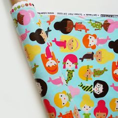 This slicker fabric is so crazy cute that it's painful! mermaid slicker / ann kelle