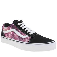 Vans Pink & Black Old Skool Trainers