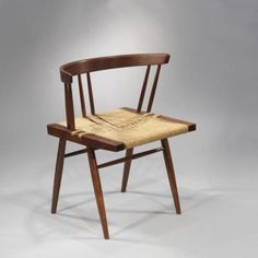 Grass-Seated Chairs by George Nakashima.