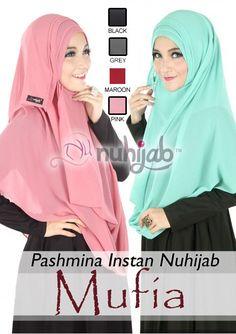 IDR. 88.200 Bahan: Sifon Cerutty Ultimate, Panjang: 200cm, Lebar: 70cm, Model Hijab: Pashmina, Moment: Elegant, Hijab Instant: YA