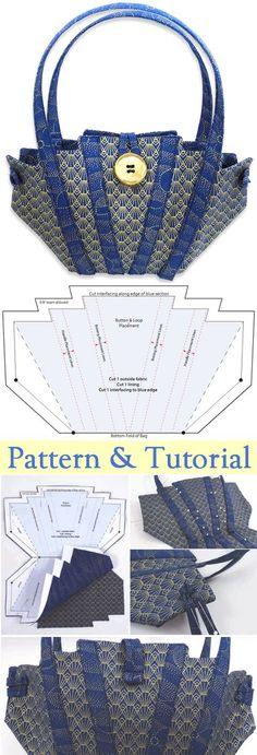 Little Evening Bag Tutorial. Free Pattern & Tutorial http://www.free-tutorial.net/2017/09/little-evening-bag-tutorial.html