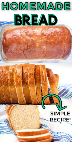 This Homemade White Bread Recipe is simply the best and my family devours it. Luckily this recipe makes 2 large loaves and costs $2.34 to make. Budget Recipes, Budget Meals, Appetizer Recipes, Dessert Recipes, Dinner Recipes, Homemade White Bread, Easy Budget, Easy Holiday Recipes, Dinner On A Budget