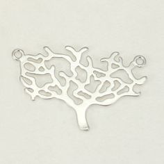 MB075SV / Matte Silver Tree Metal beads Pendants by Annielov2, $1.80