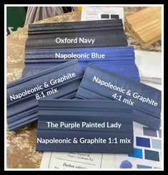 Napoleonic Blue Chalk Paint® by Annie Sloan and Oxford Navy Annie Sloan Chalk Paint Napoleonic Blue, Blue Chalk Paint, Navy Paint, Chalk Painting, Navy Furniture, Annie Sloan Painted Furniture, Chalk Paint Furniture, Refinished Furniture, Furniture Makeover