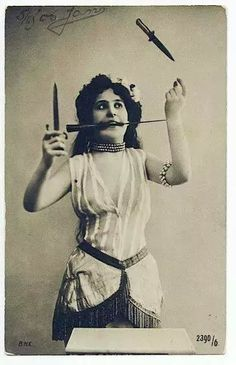 beautiful knife-thrower