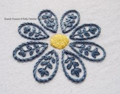 (10) Name: 'Embroidery : Scandi Flowers