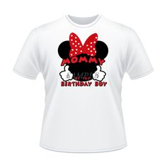 Mickey Mouse Iron On Transfer Mom of Birthday Boy by IWannaParty, $3.00