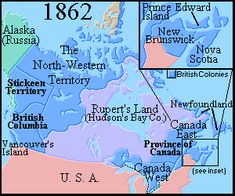 Map of Canada 1862 Brief History of Canada 1800 to 1866 High School Activities, History Activities, Preschool Activities, British North America, North America Map, Nasa History, History Class, Family History, Canadian Things