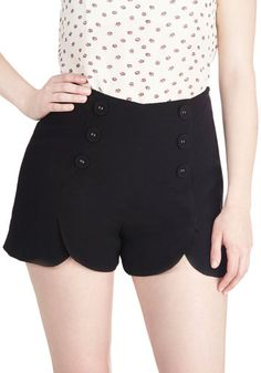Get summer ready in our tried and true shorts styles at ModCloth! Shop your favorite shorts for women including denim shorts in sizes ranging 00 to Pin Up Outfits, Pretty Outfits, Summer Outfits, Casual Outfits, Summer Clothes, Vintage Shorts, Vintage Outfits, Sailor Shorts, Embroidery Fashion