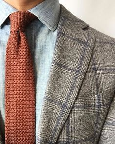 Regram from @ejsamson: Well if it's going to feel like winter... Link to our Textured Solid Knit tie in profile.
