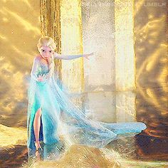Anna In The Room With The Paintings Frozen Gif