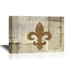 wall26 - Canvas Wall Art - Fleur De Lis Flower on Abstrac... https://www.amazon.com/dp/B01MY5FR1S/ref=cm_sw_r_pi_dp_x_v0xFybKTETCS3