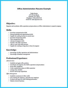 Objective part of a resume