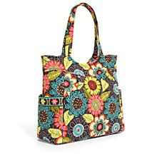 Pleated Tote in flower shower | Vera Bradley