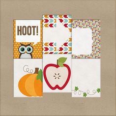Quality DigiScrap Freebies: Hoot journal cards freebie from Harper Finch