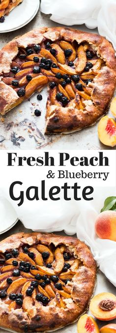 No Fuss Blueberry and Peach Galette 1 hr to make