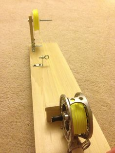 Tight Lined Tales of a Fly Fisherman: DIY Reel Spooling Station Fishing Line Spooler, Fishing Rigs, Sport Fishing, Fishing Bait, Best Fishing, Fishing Tackle, Fishing Stuff, Fly Bait, Women Fishing
