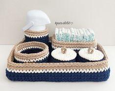 Crochet Home, Crochet Yarn, Free Crochet, Crochet Storage, Crochet Basket Pattern, T Shirt Yarn, Sewing, Knitting, Handmade